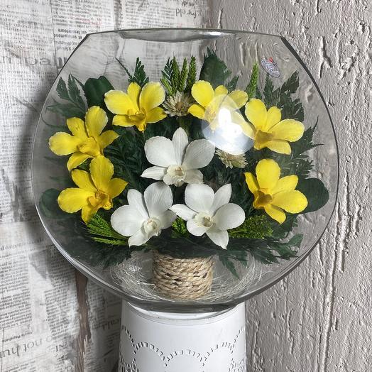 Орхидеи в вакууме: букеты цветов на заказ Flowwow