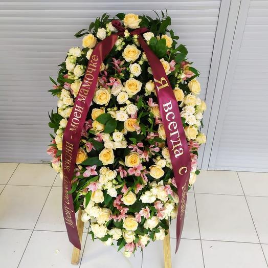 Ритуальный венок: букеты цветов на заказ Flowwow
