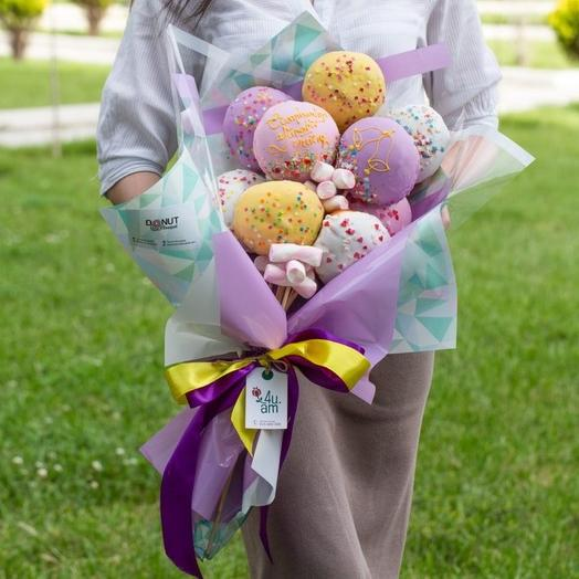 Sweet bouquet of doughnuts