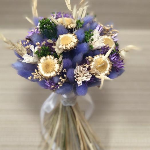 Сиреневый букет сухоцветов