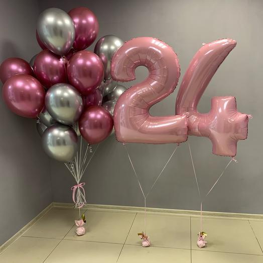 Сет из шаров на день рождение 24
