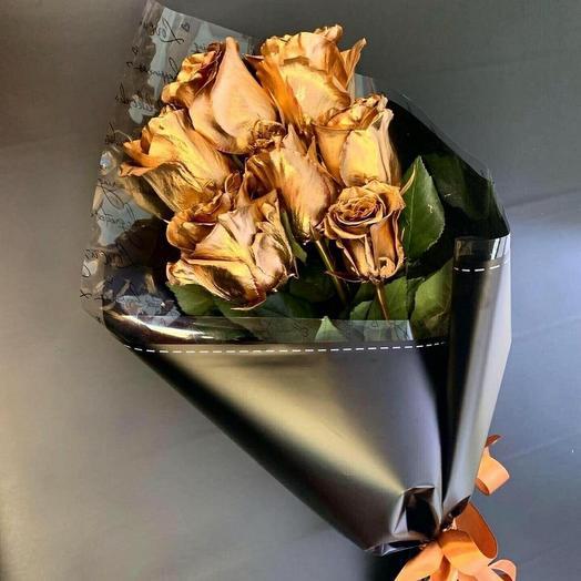 Букет из золотых роз