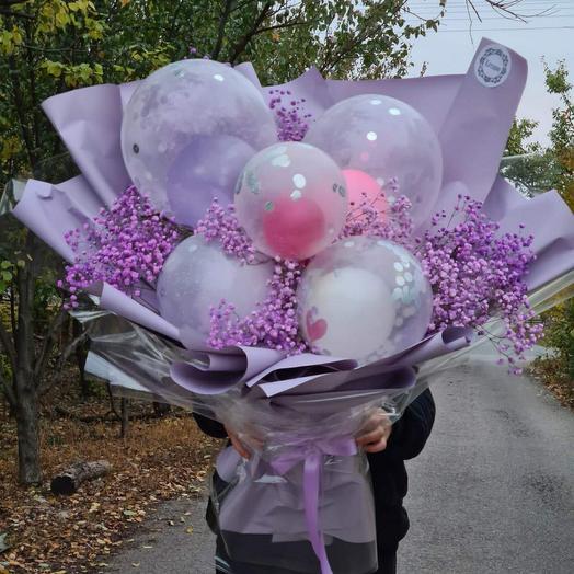 Букет из шаров и цветов