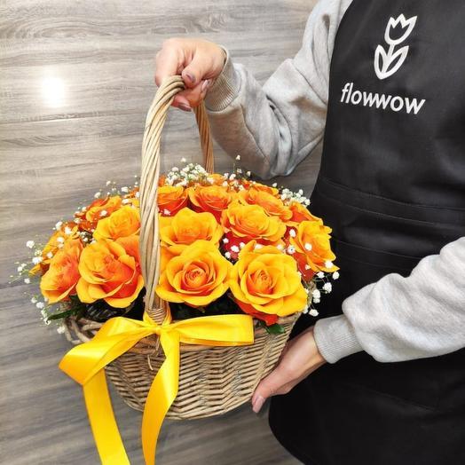 ✅ Корзина с живыми цветами