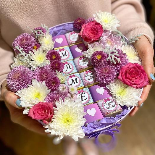 Цветы   шоколад для Мамы💖