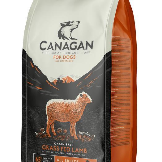 CANAGAN Grain Free, Grass Fed Lamb беззерновой сухой корм для собак всех пород и возрастов с ягненком 2 кг