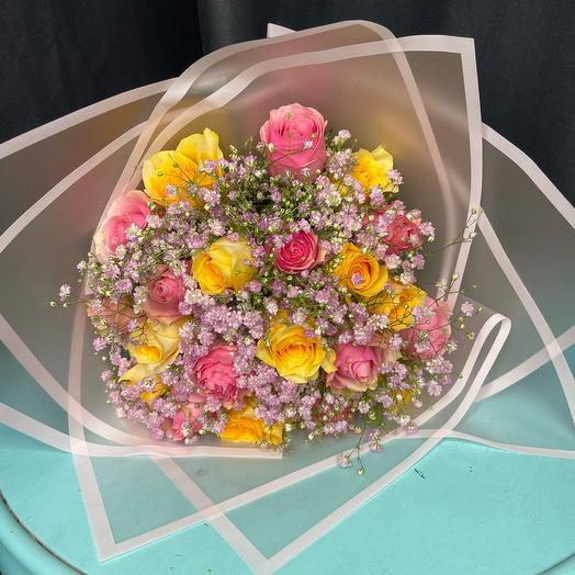 Моно букет из 21 розы