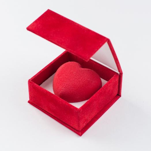 Шоколадное велюровое сердце