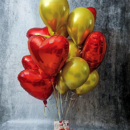 Сет шаров Gold - Love
