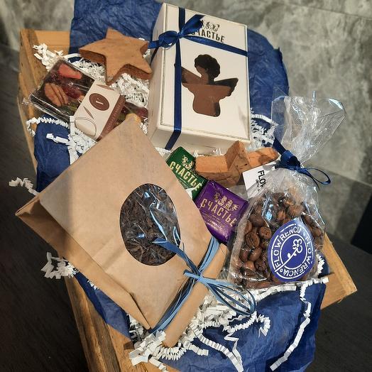 Мужской подарок с кофе в ящике