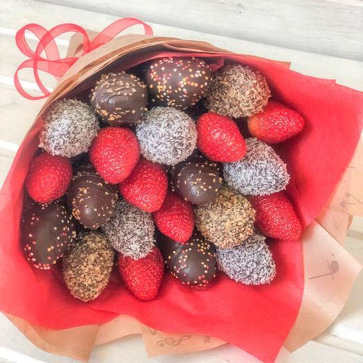 Букет из клубники в Шоколаде Ретро