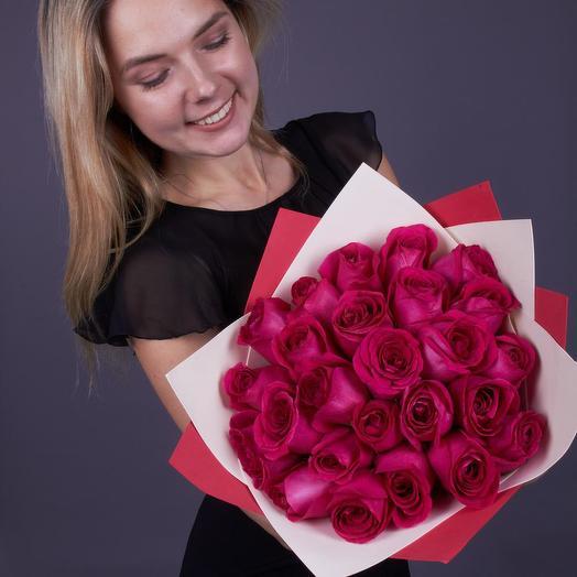25 роз Пинк Флойд , Эквадор, Premium (ваза в подарок, см. условия акции)