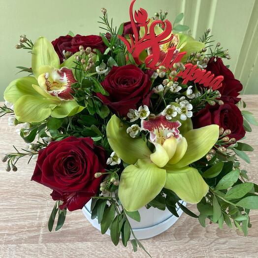 Цветы в коробке ВАУ