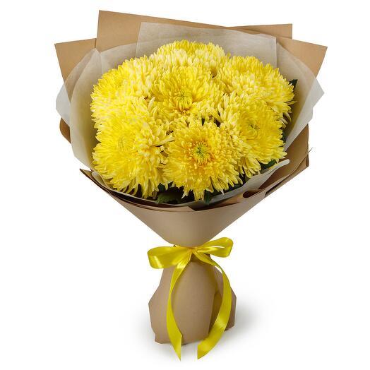 Букет из 7 желтых хризантем Сингл
