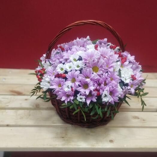 Корзина с цветами Лето