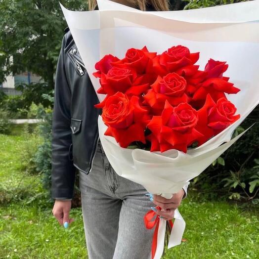 Кубинские Красные розы Премиум