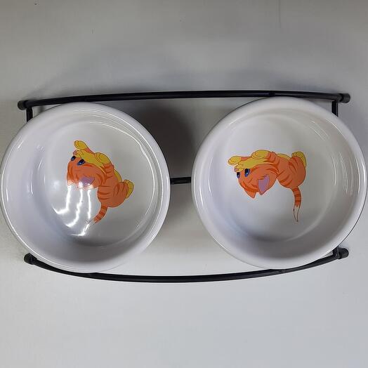 Миска керамическая на подставке