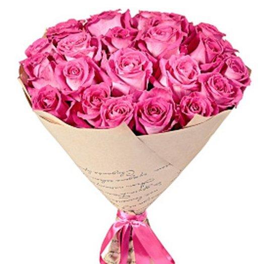 БЦ-160113 21 Розовая роза: букеты цветов на заказ Flowwow