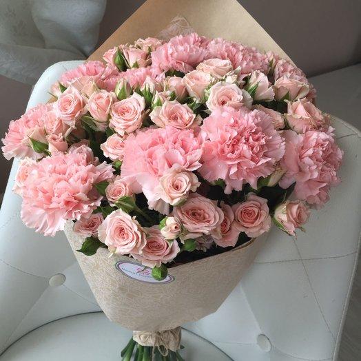 Букет Розовый шик: букеты цветов на заказ Flowwow