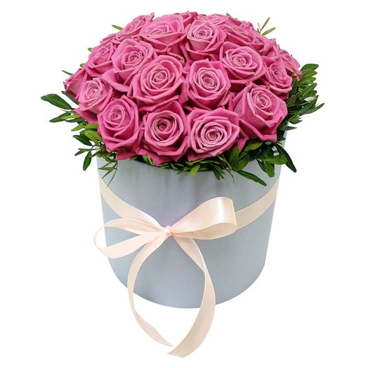 Коробочка с розами Аква: букеты цветов на заказ Flowwow