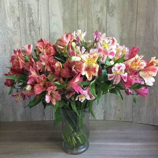 Букет из 21 розовой альстромерии: букеты цветов на заказ Flowwow