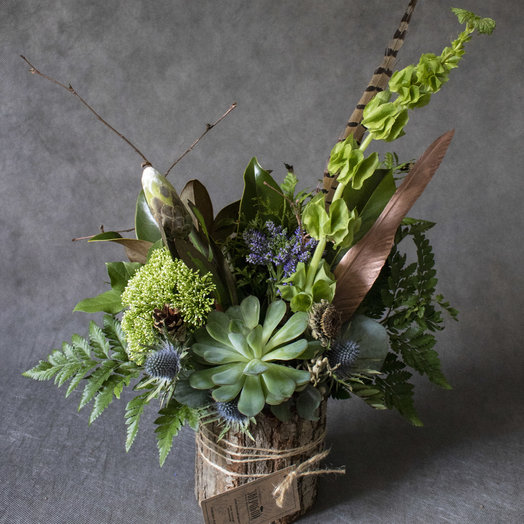 Охотник в коре дерева: букеты цветов на заказ Flowwow