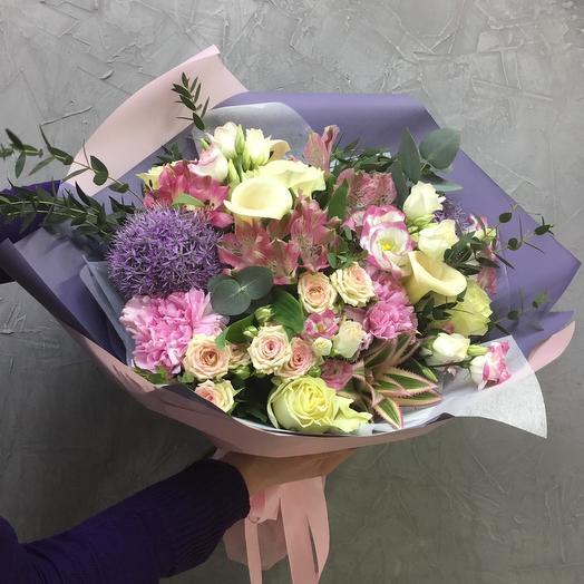 Букет  сборный с алиумом : букеты цветов на заказ Flowwow
