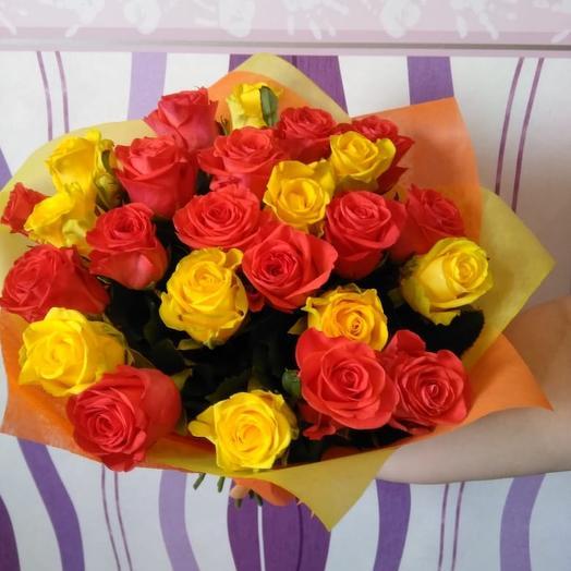 Букет жёлто-рыжий: букеты цветов на заказ Flowwow