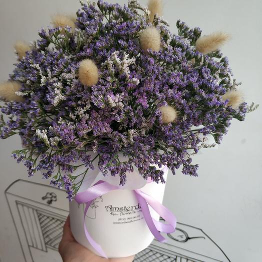 Коробочка с лимониумом: букеты цветов на заказ Flowwow