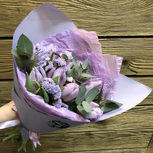 Лавандовые тюльпаши: букеты цветов на заказ Flowwow
