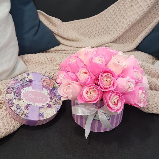 Мыльные розочки: букеты цветов на заказ Flowwow