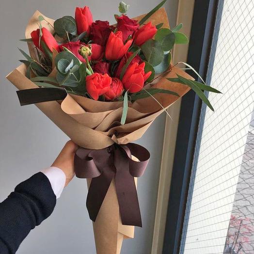 Букет «Красная Москва»: букеты цветов на заказ Flowwow