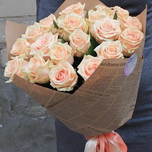 Моно чайных роз: букеты цветов на заказ Flowwow