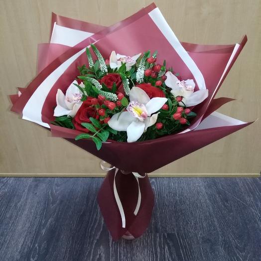"""Букет""""Красное и белое"""": букеты цветов на заказ Flowwow"""