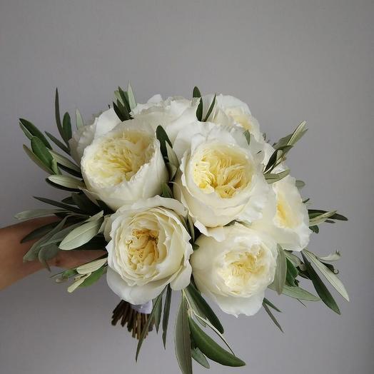 Свадебный монобукет: букеты цветов на заказ Flowwow