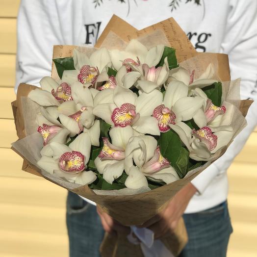 Букет из орхидей (15 шт). N607: букеты цветов на заказ Flowwow