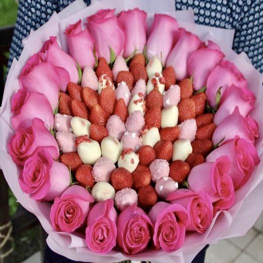 Феерия клубничная: букеты цветов на заказ Flowwow