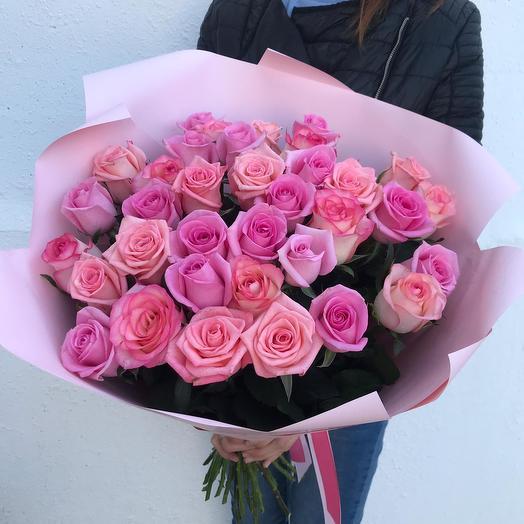 """35 роз """"Микс Нежности"""""""