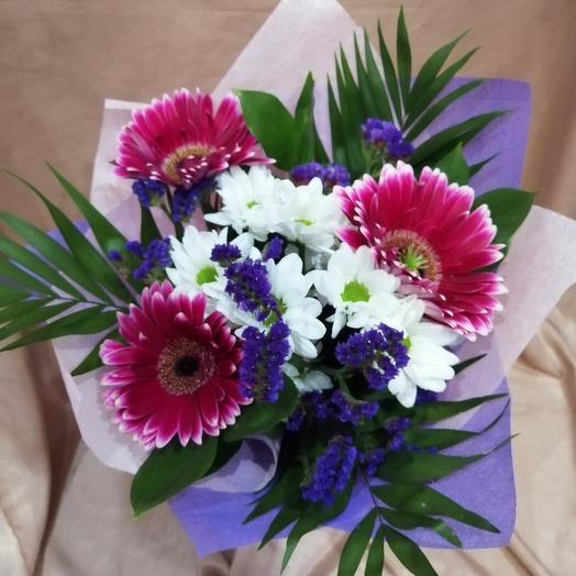 Мини комплимент из гербер: букеты цветов на заказ Flowwow