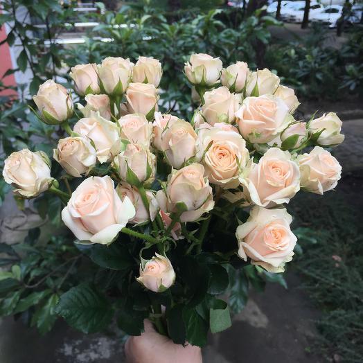 Букет из кремовой кустовой розы: букеты цветов на заказ Flowwow