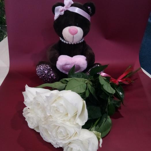 Цветы+игрушка: букеты цветов на заказ Flowwow