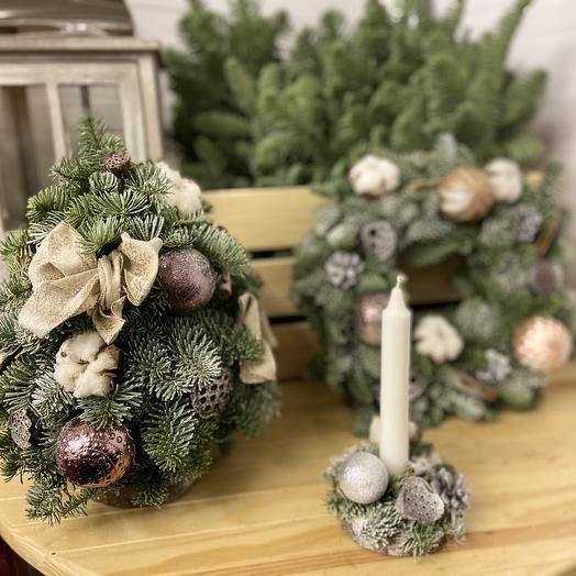 Рождественский набор: букеты цветов на заказ Flowwow