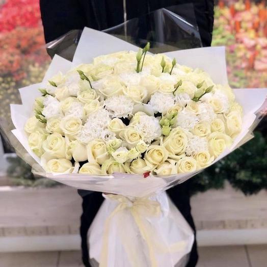 White winter bouquet: flowers to order Flowwow