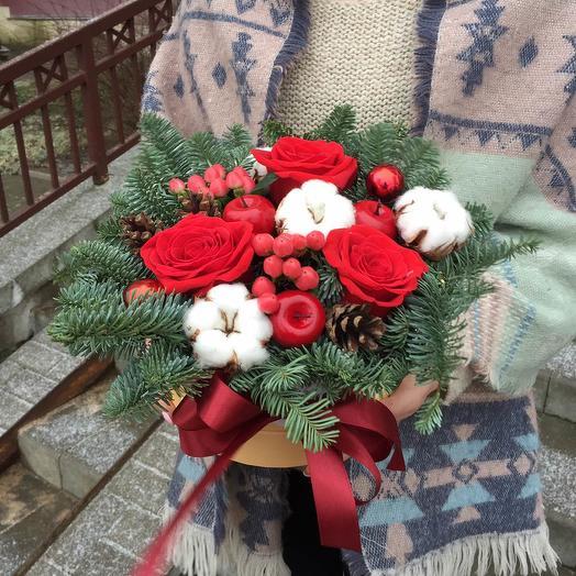 Новогоднее чудо: букеты цветов на заказ Flowwow