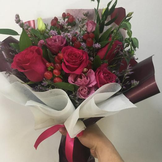 Букет « Малиновый мусс»: букеты цветов на заказ Flowwow