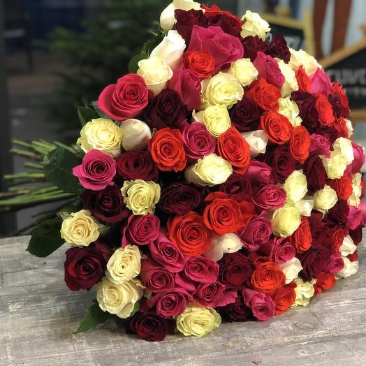 101 rose mix 60 cm