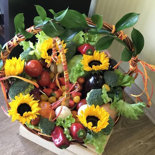 Овощная корзина подарочная