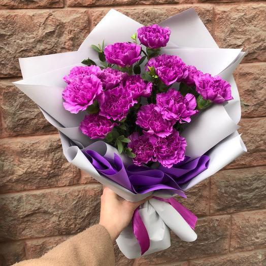 Моно Диантусы: букеты цветов на заказ Flowwow
