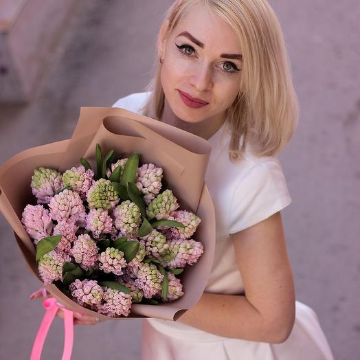 Букет из 25 розовых генацитов
