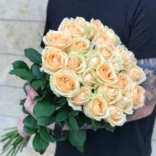 Кремовые розы, 80см